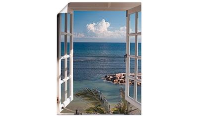 Artland Wandbild »Fenster zum Paradies«, Fensterblick, (1 St.), in vielen Größen &... kaufen