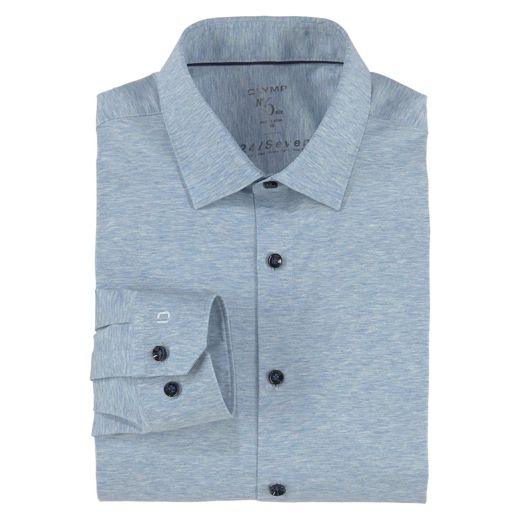 OLYMP Businesshemd »No. Six super slim«, in bequemer Jersey-Qualität