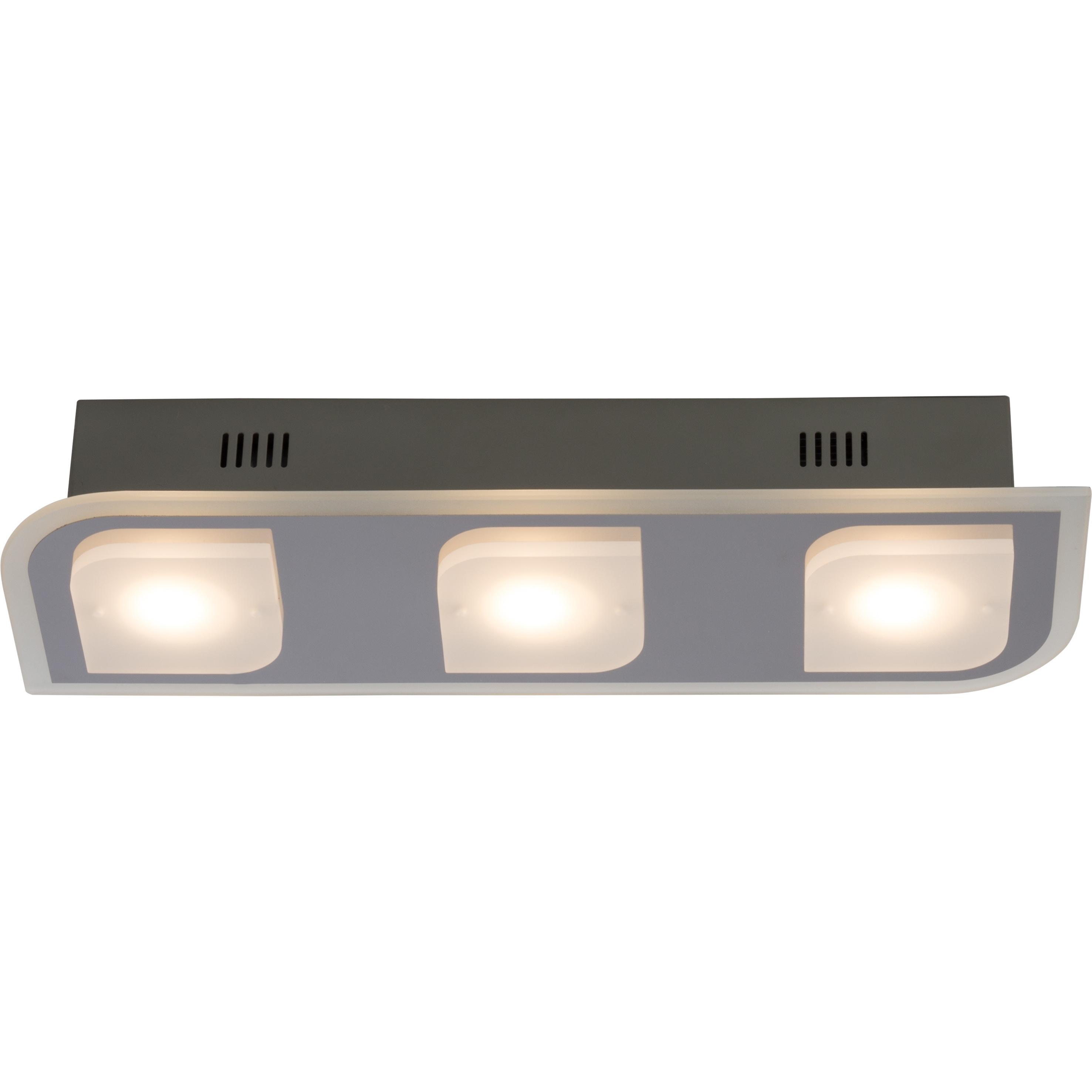 Brilliant Leuchten Formular LED Wand- und Deckenleuchte 3flg chrom