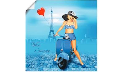 Artland Wandbild »Es lebe die Liebe«, Frau, (1 St.), in vielen Größen & Produktarten - Alubild / Outdoorbild für den Außenbereich, Leinwandbild, Poster, Wandaufkleber / Wandtattoo auch für Badezimmer geeignet kaufen