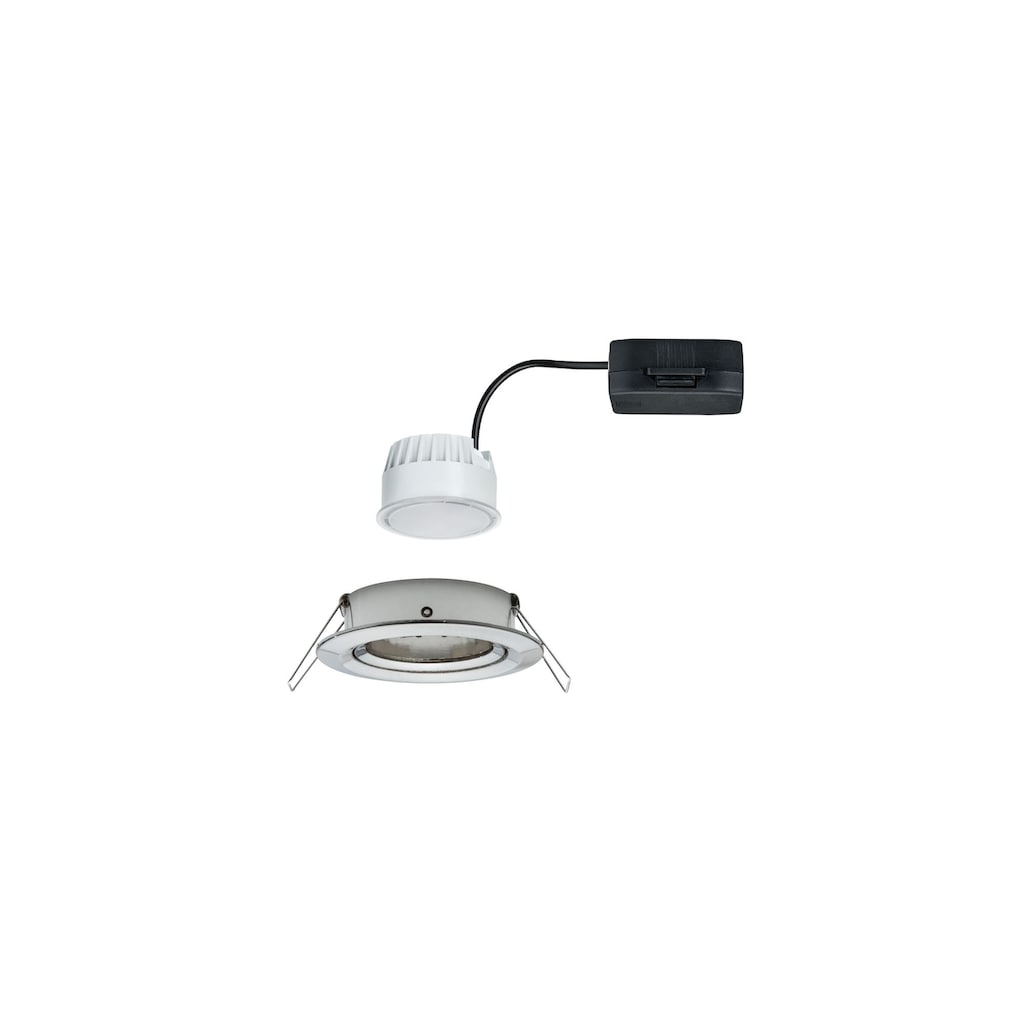 Paulmann LED Einbaustrahler »schwenkbar Nova rund 1x6,5W Eisen gebürstet«, 1 St., Warmweiß