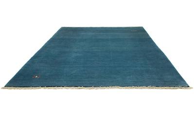 morgenland Wollteppich »Gabbeh Teppich handgeknüpft blau«, rechteckig, 18 mm Höhe,... kaufen