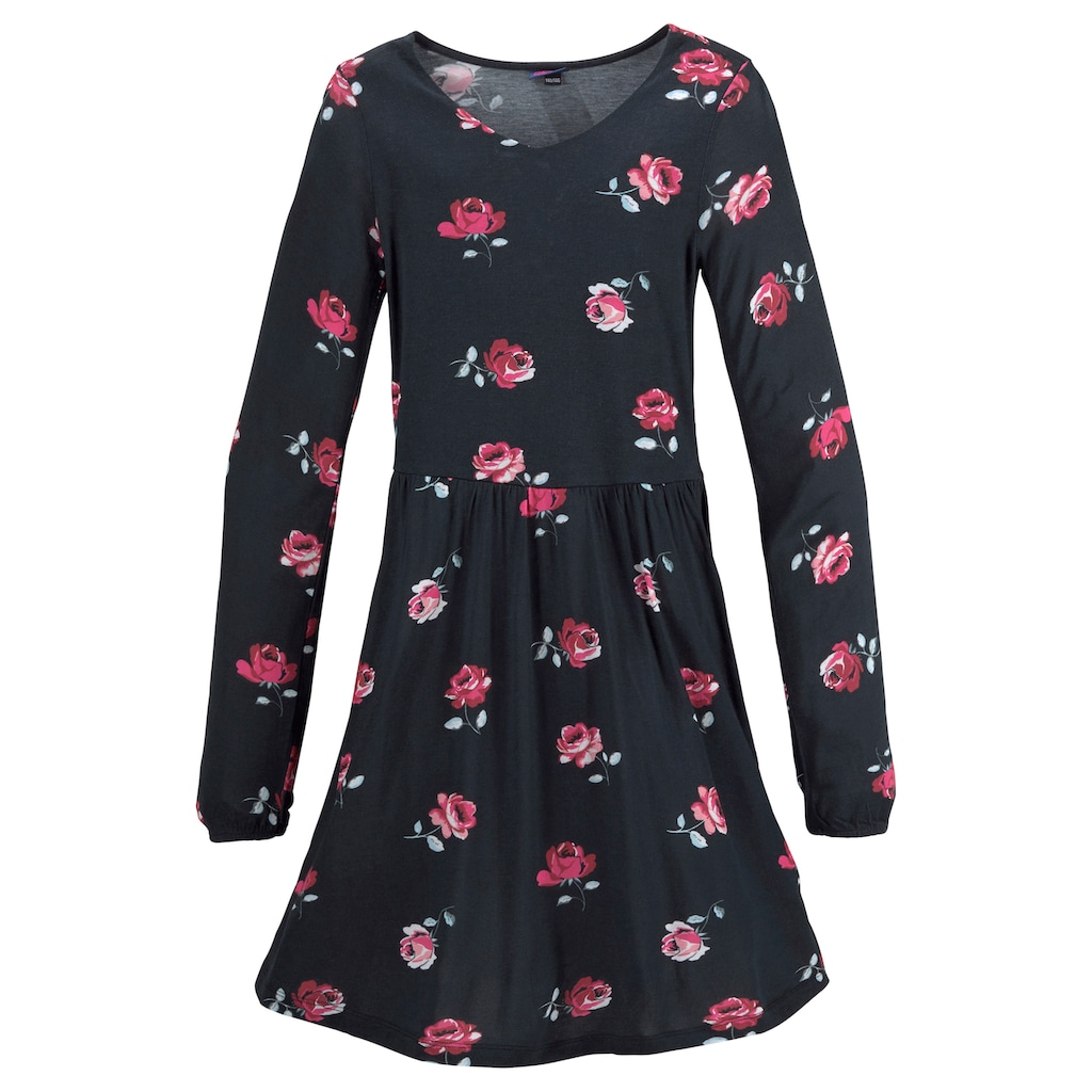 Arizona Jerseykleid, mit Blumendruck