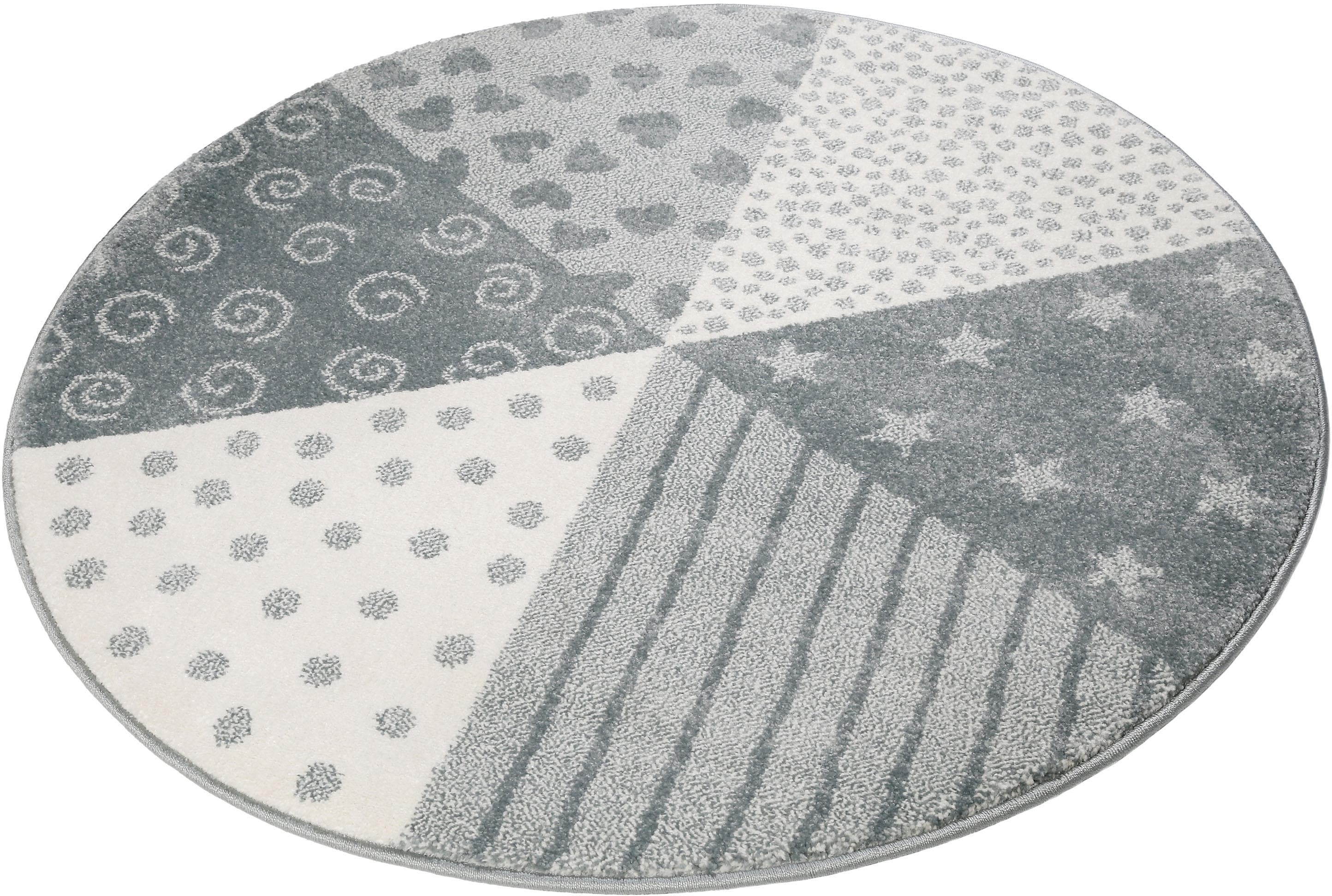 Sigikid Kinderteppich Canon, rund, 13 mm Höhe blau Kinder Kinderteppiche mit Motiv Teppiche