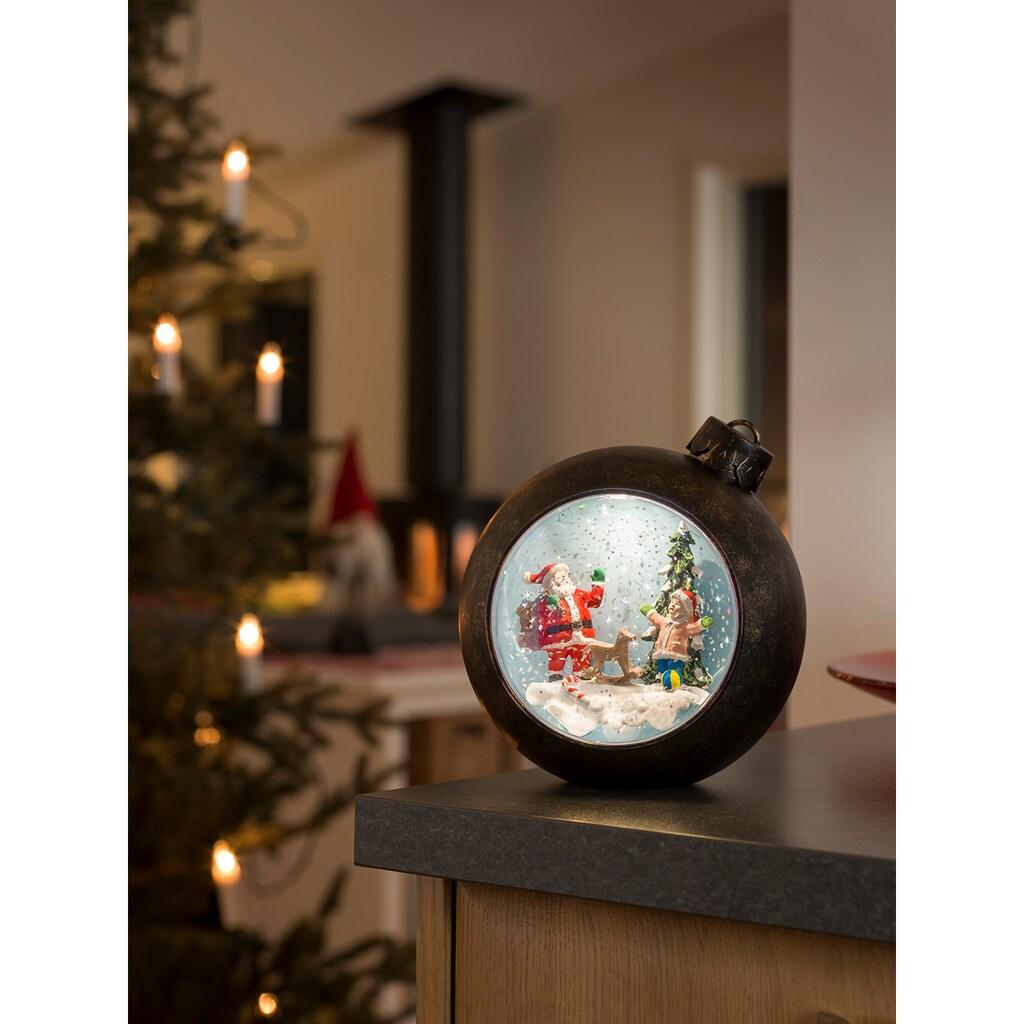 KONSTSMIDE LED Weihnachtskugel mit Weihnachtsmann mit Kindern