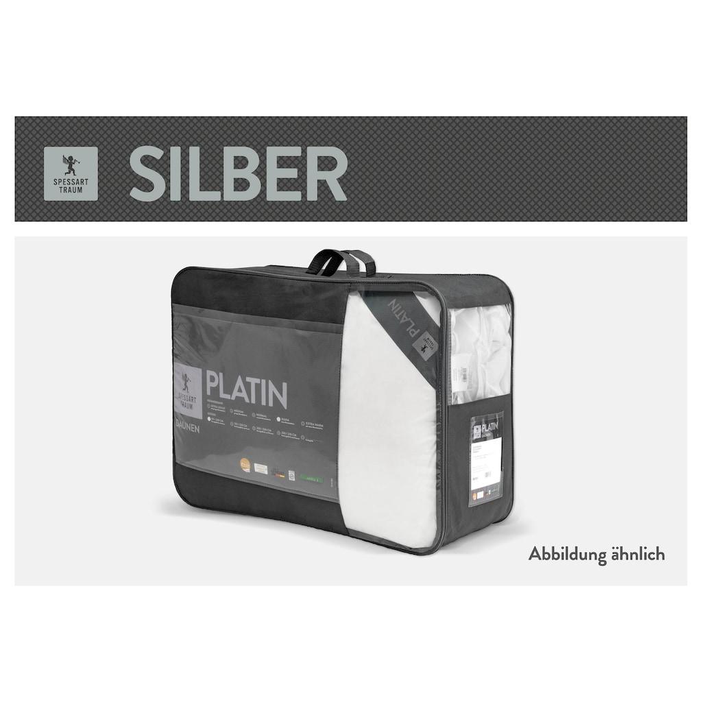 SPESSARTTRAUM Baumwollbettdecke »Silber«, normal, (1 St.), hergestellt in Deutschland, allergikerfreundlich