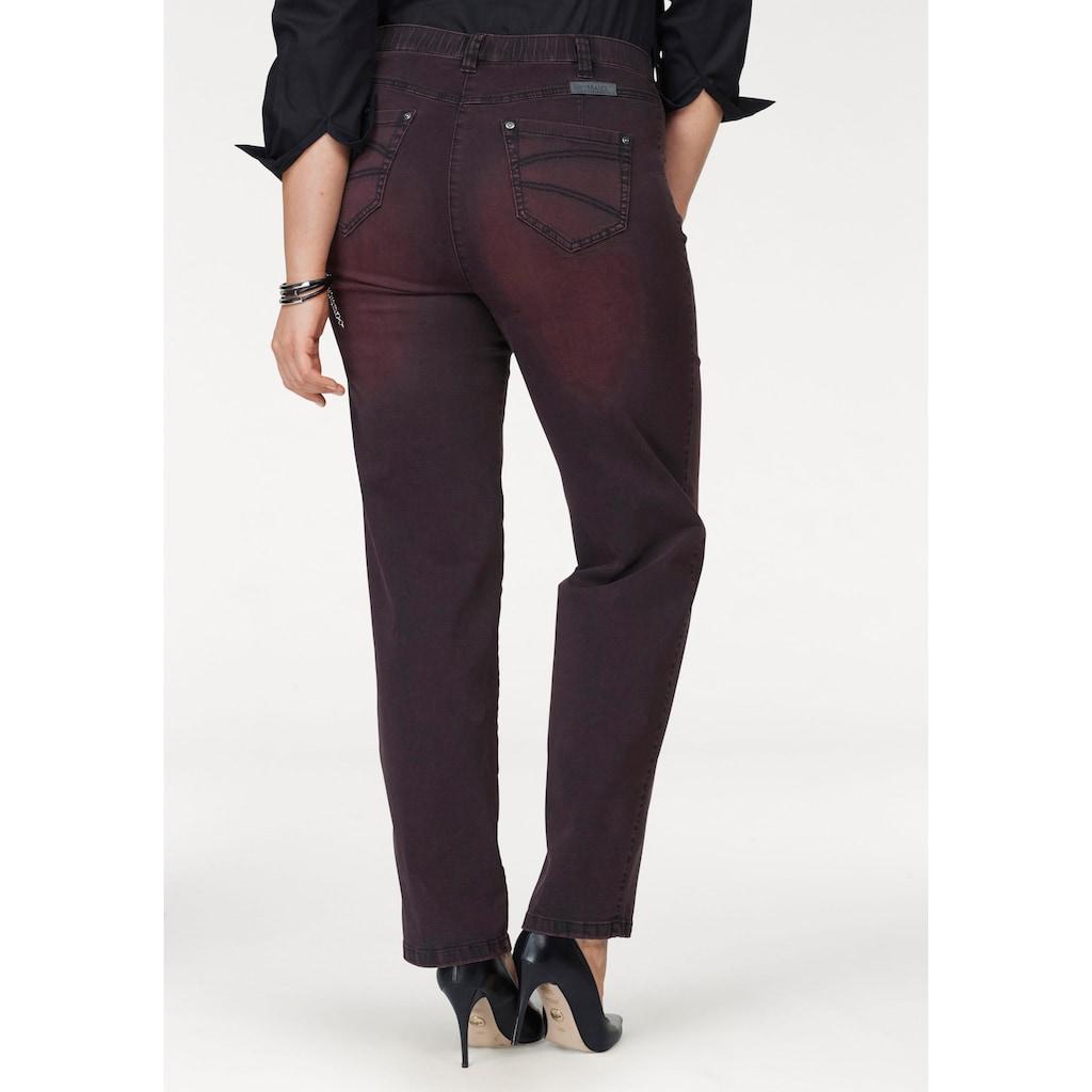 KjBRAND Straight-Jeans »Babsie: bequemer Oberschenkel«, Super Stretch, Overdyed Denim