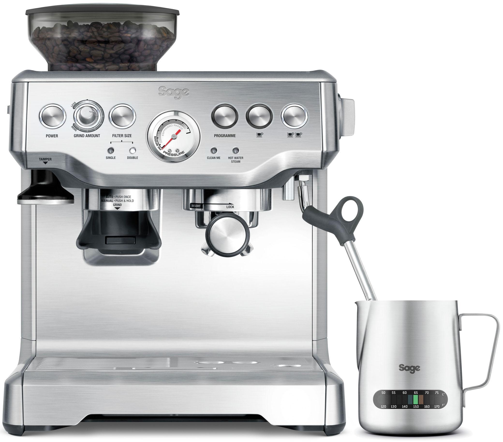 Sage Espressomaschine The Barista Express, SES875BSS2EEU1A silberfarben Kaffee Espresso Haushaltsgeräte Kaffeemaschine