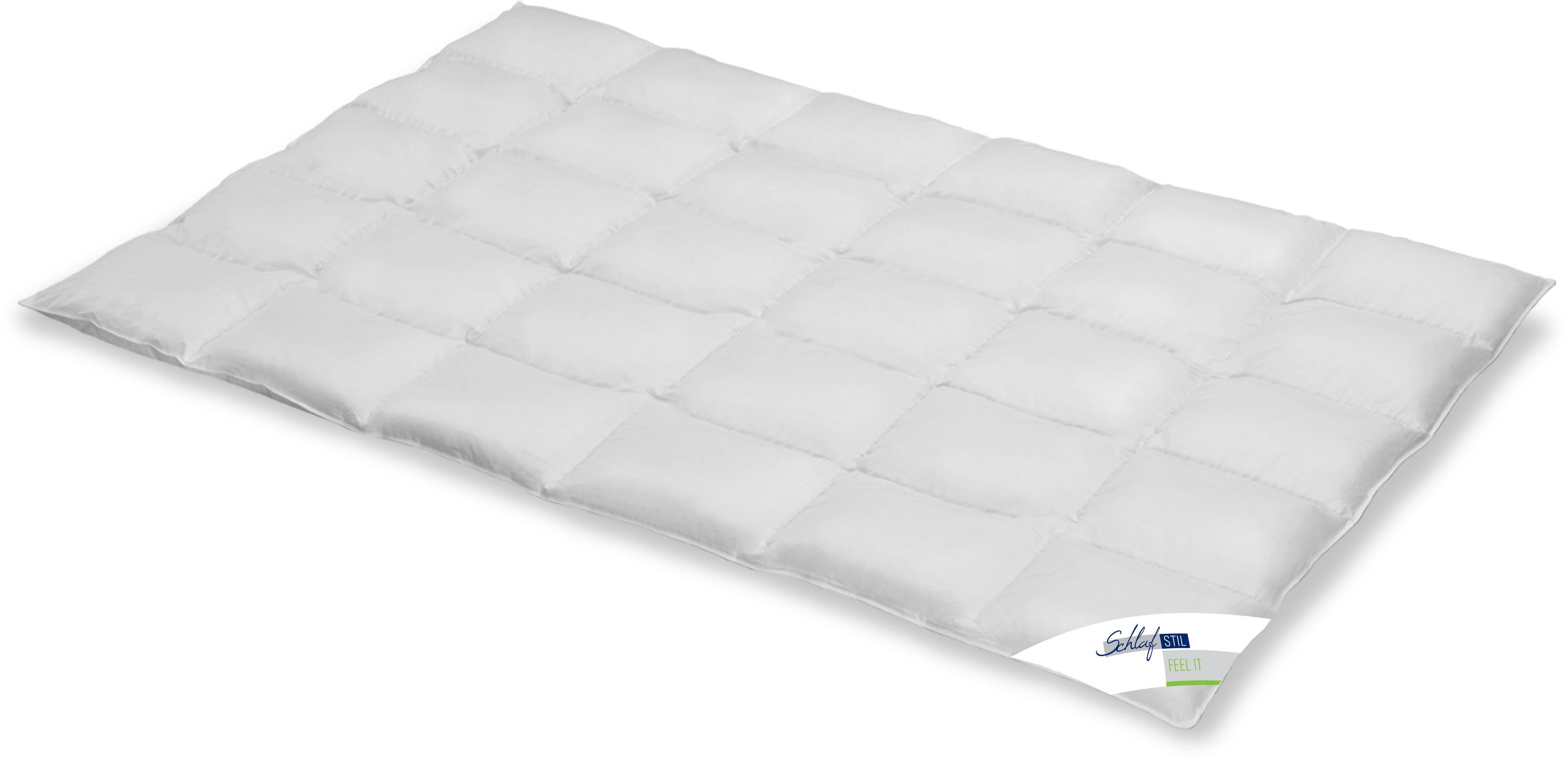 Daunenbettdecke Feel It Schlafstil normal Füllung: 100% Daunen Bezug: 100% Baumwolle
