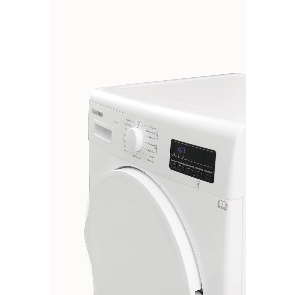 Telefunken Wärmepumpentrockner »T-12-300-W«, 7 kg, (7 kg /A++ / weiß)
