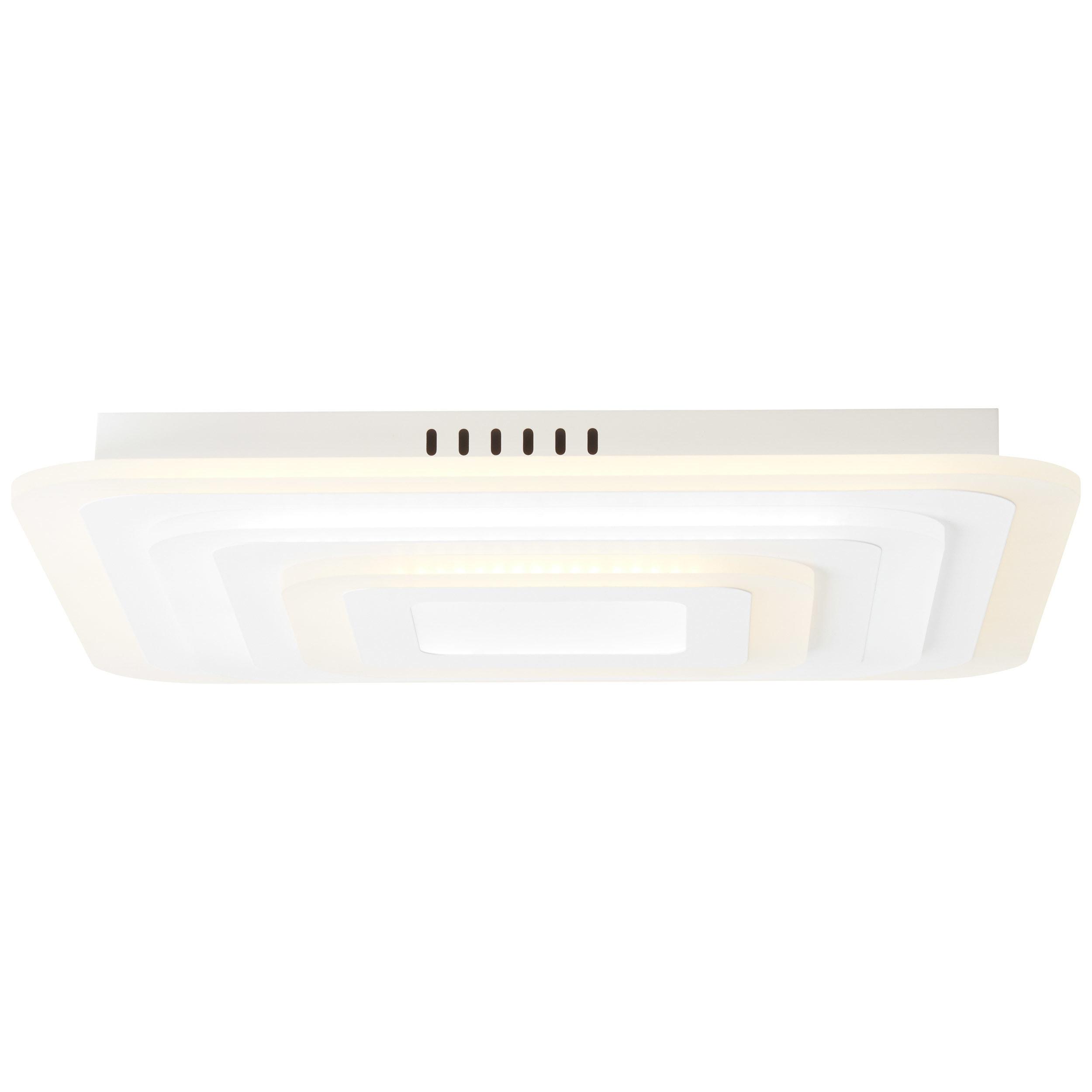 Brilliant Leuchten Selenis LED Deckenleuchte 50x50cm weiß matt