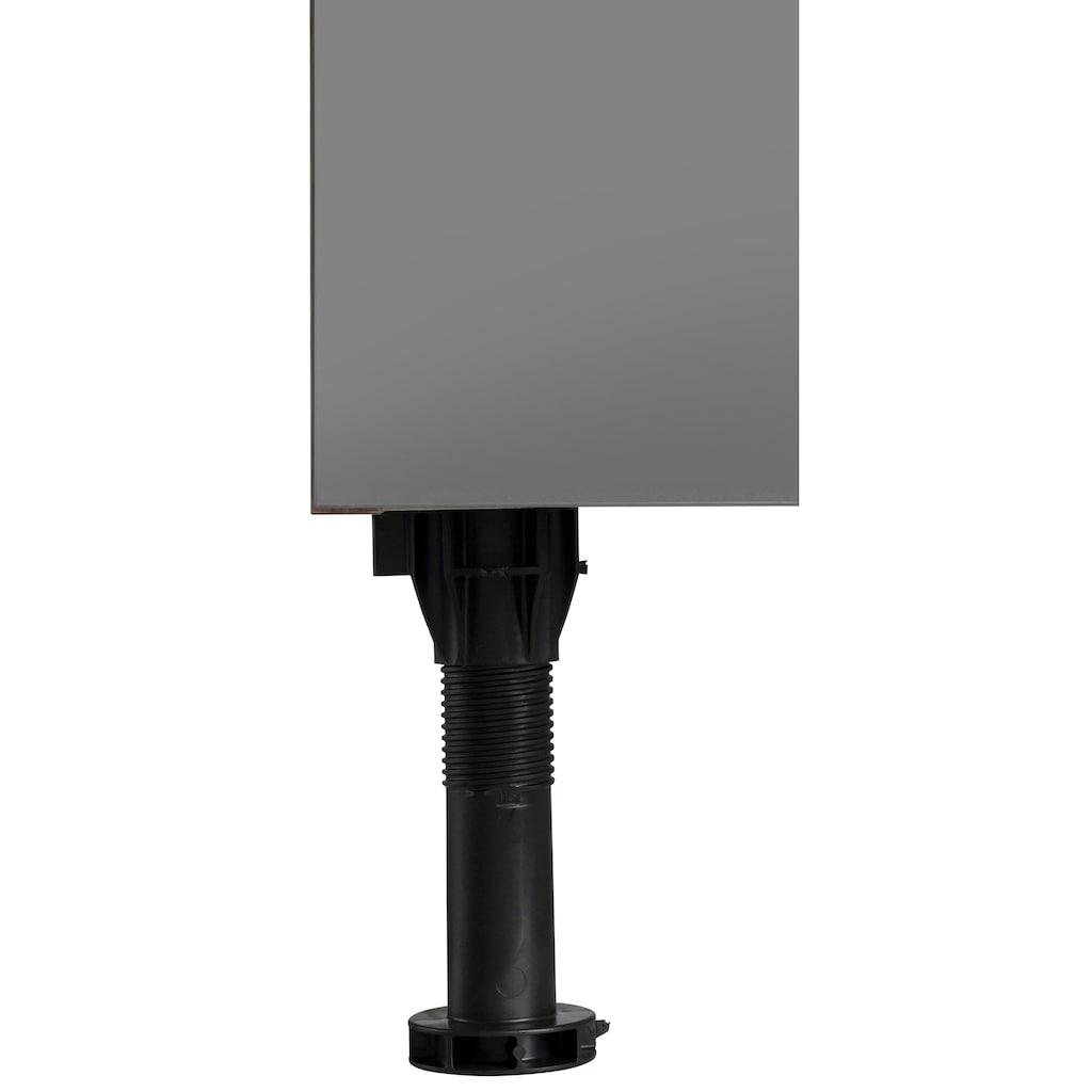 OPTIFIT Unterschrank »Bern«, 50 cm breit, mit 1 Schubkasten und 2 großen Auszügen, mit höhenverstellbaren Füßen, mit Metallgriffen
