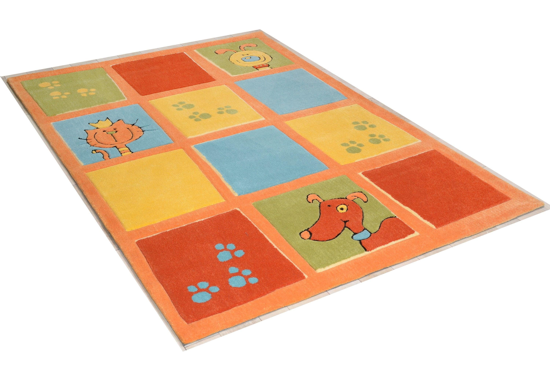 Teppich Lustige Haustiere THEKO rechteckig Höhe 14 mm handgetuftet | Heimtextilien > Teppiche > Sonstige-Teppiche | Braun | Theko