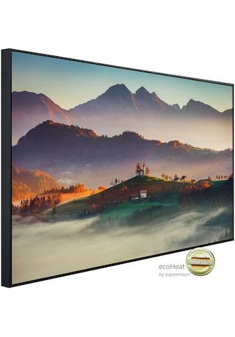 Papermoon Infrarotwandheizung »Neblige Landschaft«, sehr angenehme Strahlungswärme kaufen