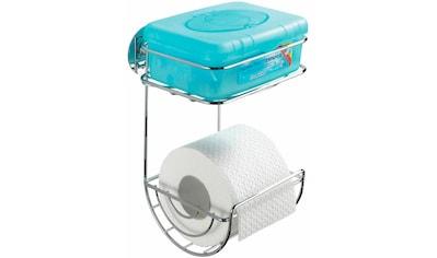 WENKO Toilettenpapierhalter, Turbo-Loc, mit Ablage kaufen