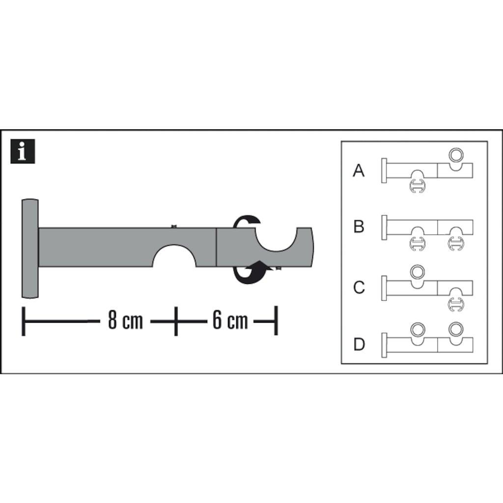 GARDINIA Gardinenstangenhalter »Doppel-Kombiträger«, Einzelprogramm Chicago 20 mm