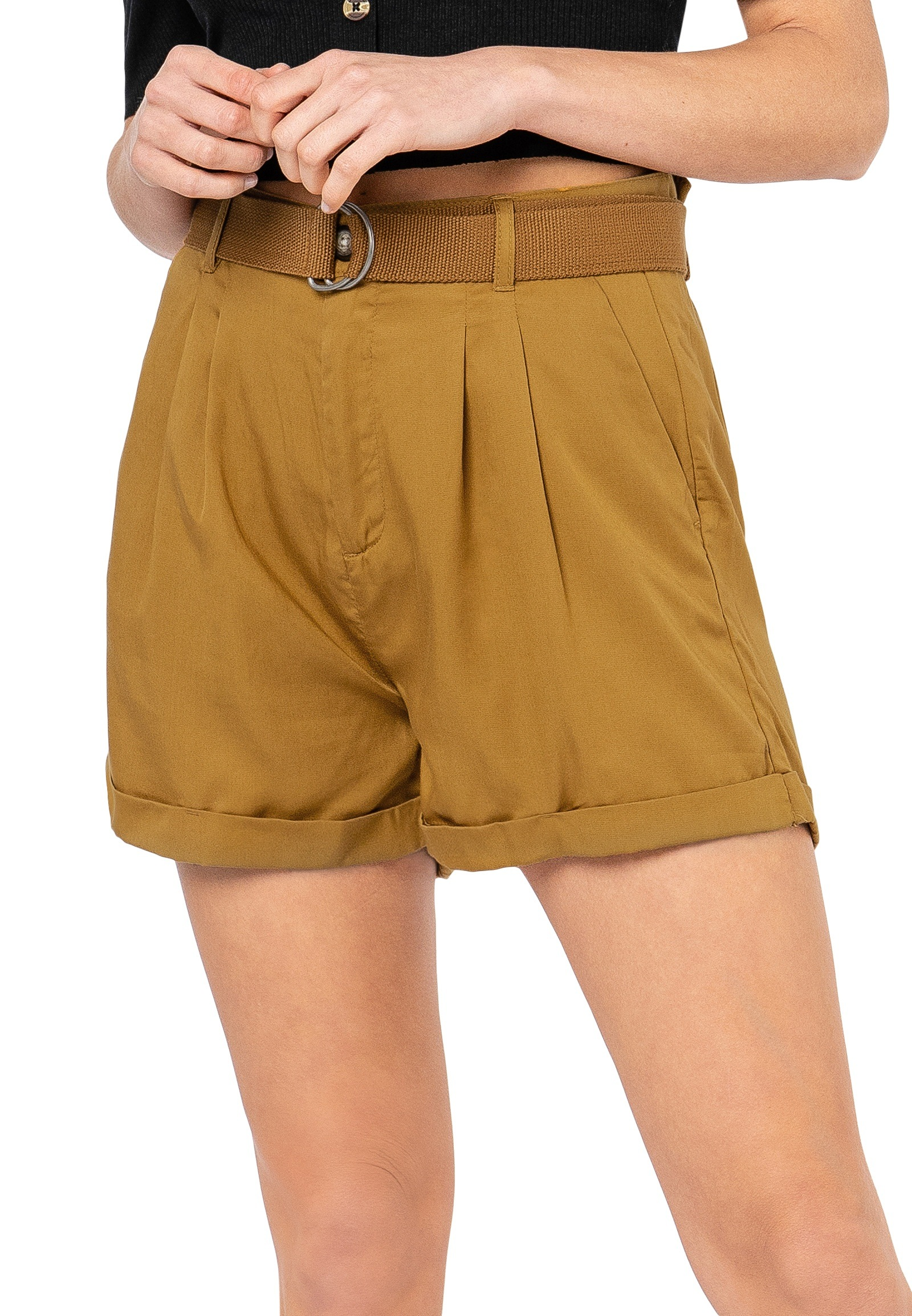 Rock Angel Shorts, im Utility-Stil braun Damen Kurze Hosen