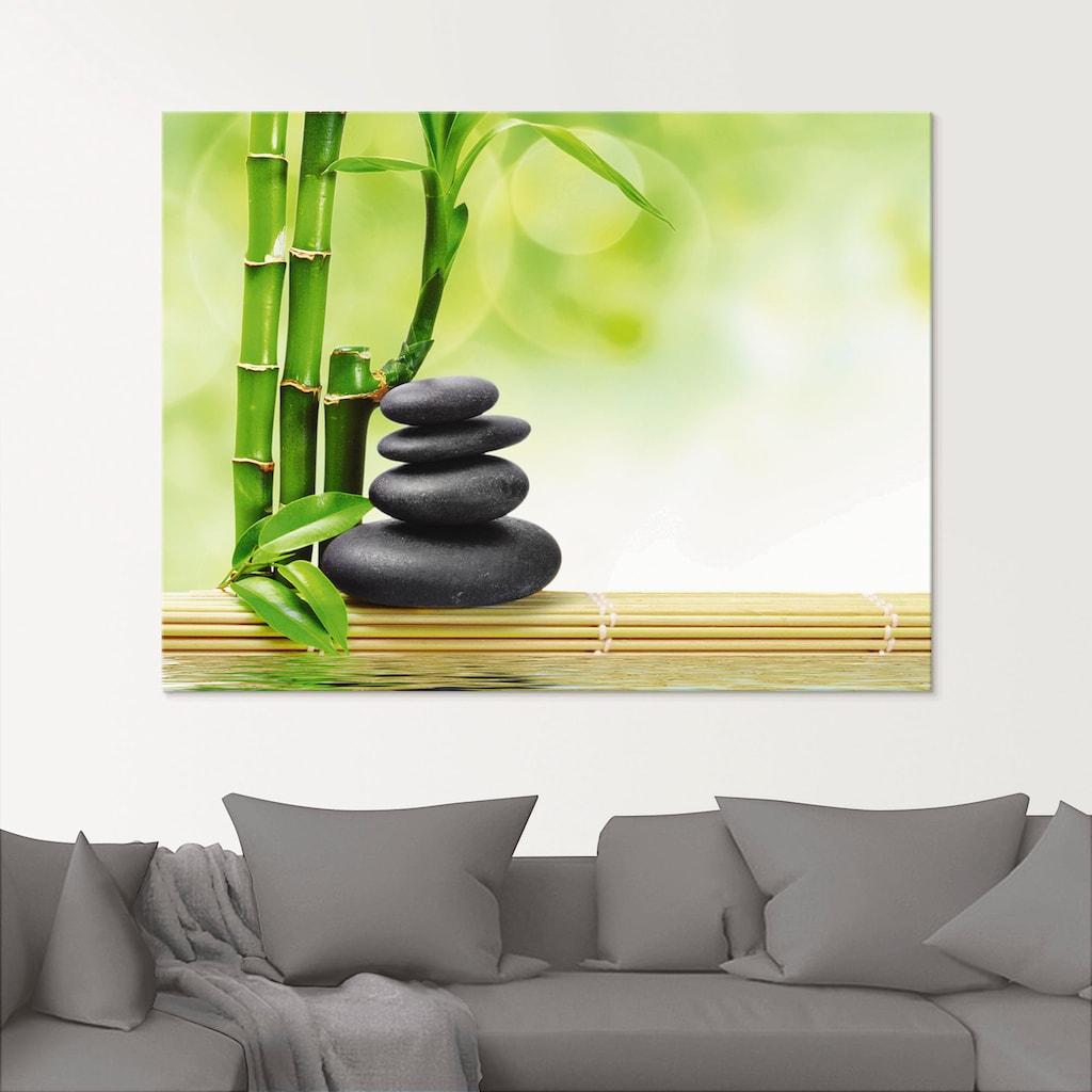 Artland Glasbild »Spa Konzept Zen Basaltsteine«, Zen, (1 St.)