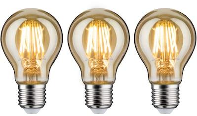 Paulmann LED-Leuchtmittel »3er Pack 6 W Vintage AGL goldlicht E27 1700K«, E27, 3 St.,... kaufen