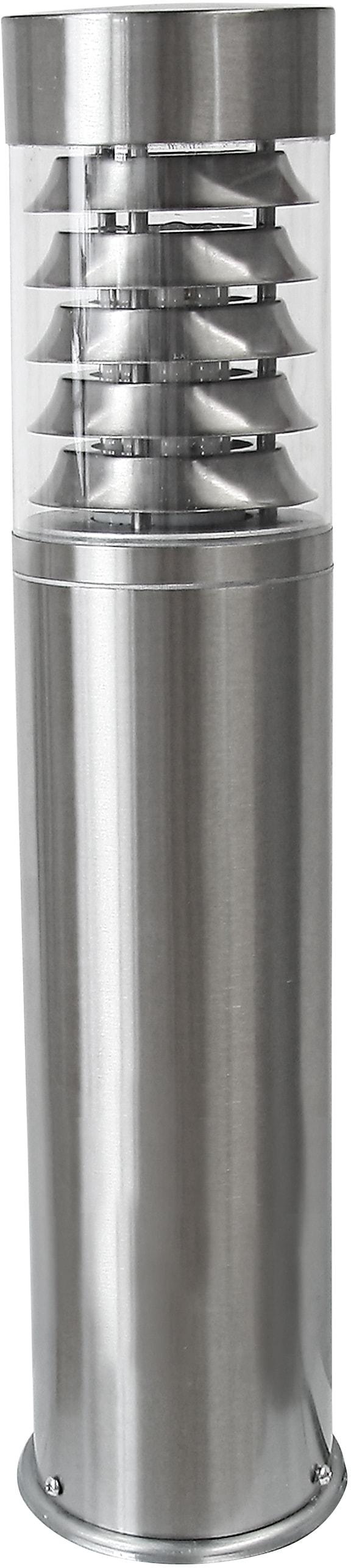 HEITRONIC Sockelleuchte Saturn, E27, 1 St., Gehäuse aus Edelstahl; für Leuchtmittel mit max. 40 mm Durchmesser