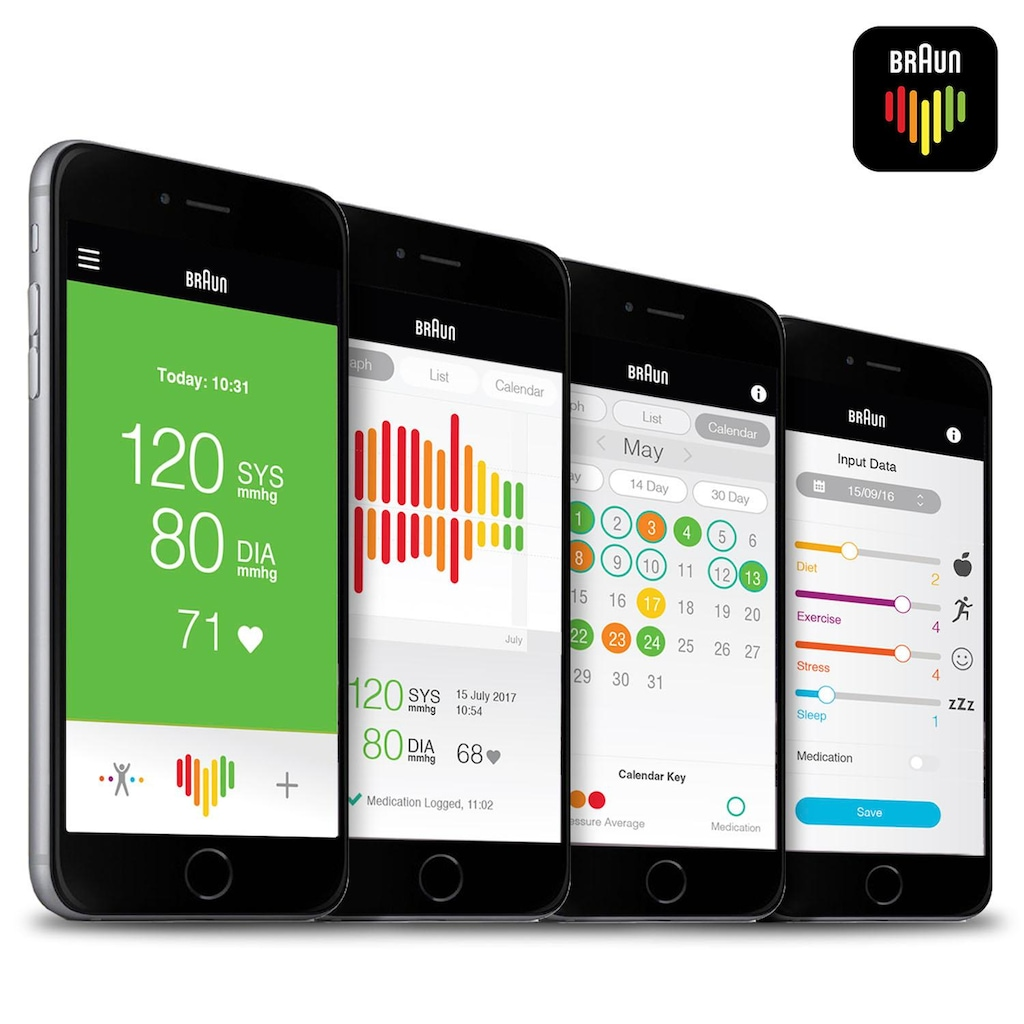 Braun Oberarm-Blutdruckmessgerät »ExactFit 3 BUA6150«