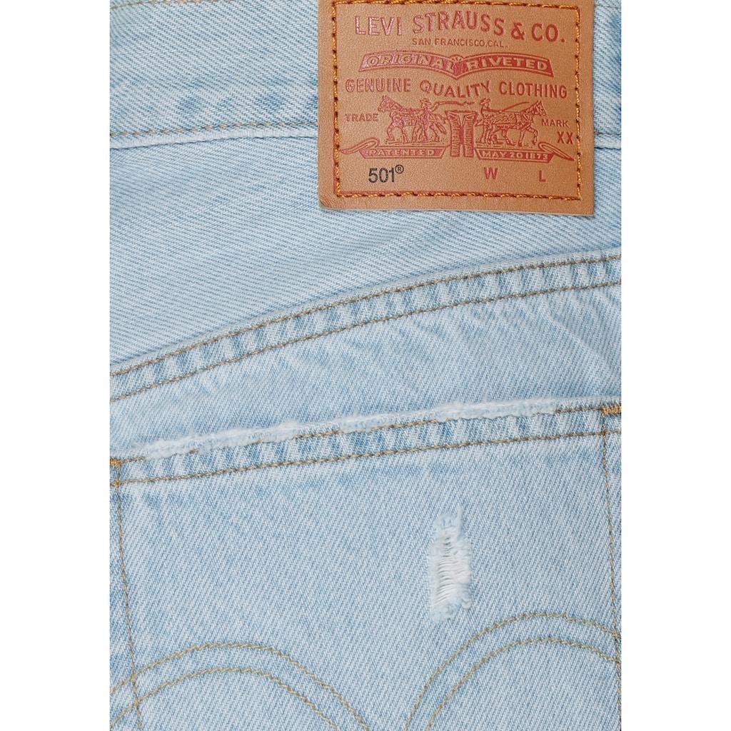 Levi's® Shorts »501 Mid Tigh Short«, mit Destroyed- Effekten