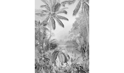Komar Fototapete »Lac Tropical Black & White«, floral-Wald-natürlich kaufen