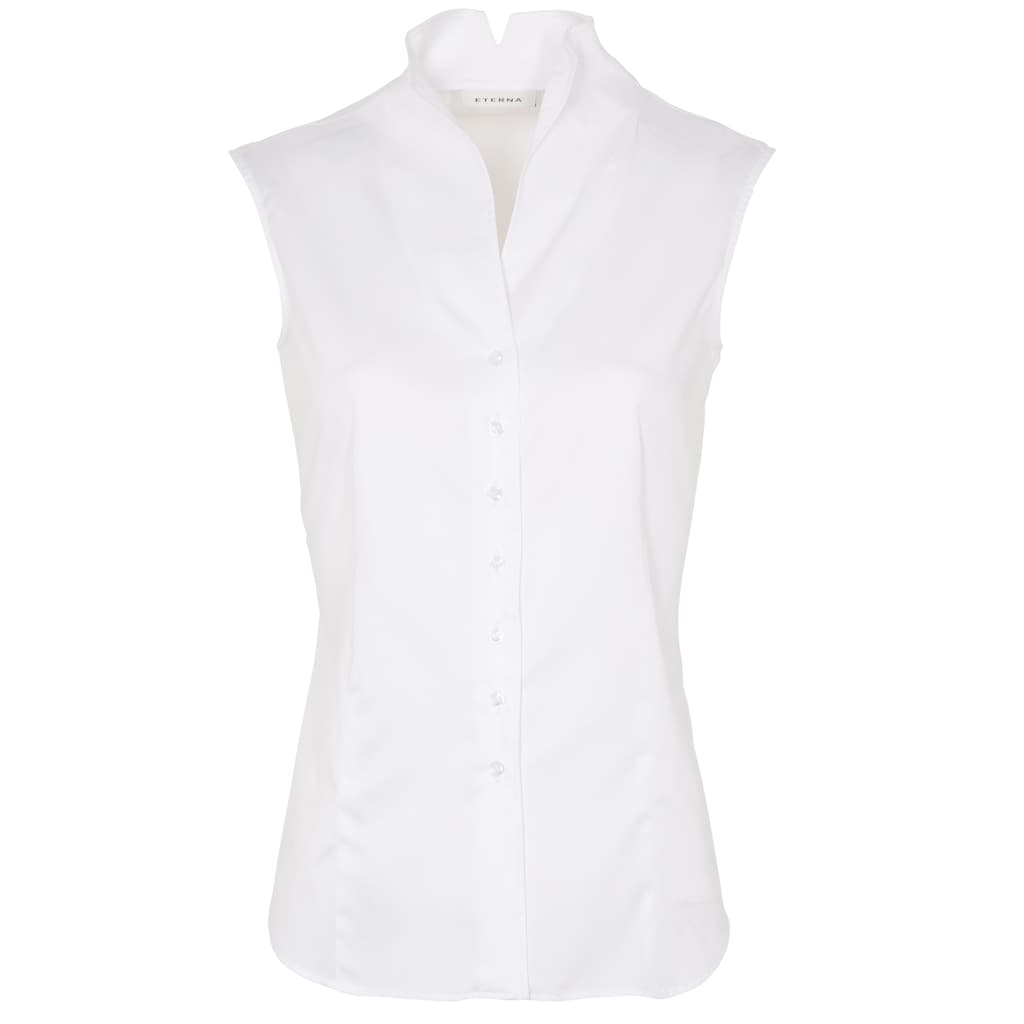 Eterna Satinbluse »MODERN CLASSIC«, ohne Arm Bluse