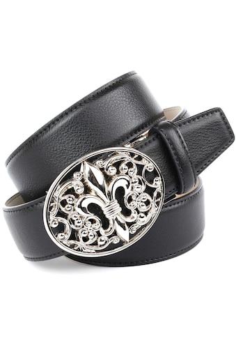Anthoni Crown Ledergürtel, mit Lilien Schließe kaufen