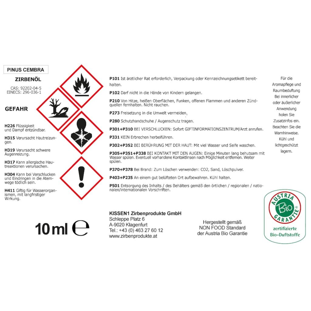 Zirbelino Diffuser »Zirbenwürfel«, mit Späne und Zirbenöl - Made in Austria
