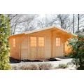 WOLFF FINNHAUS Gartenhaus »Caro 34 Klassik«, BxT: 486x460 cm, inkl. Fußboden, mit 2 Räumen
