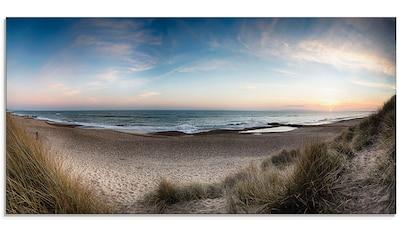 Artland Glasbild »Strand und Sanddünen am Hengistbury Head«, Küste, (1 St.) kaufen