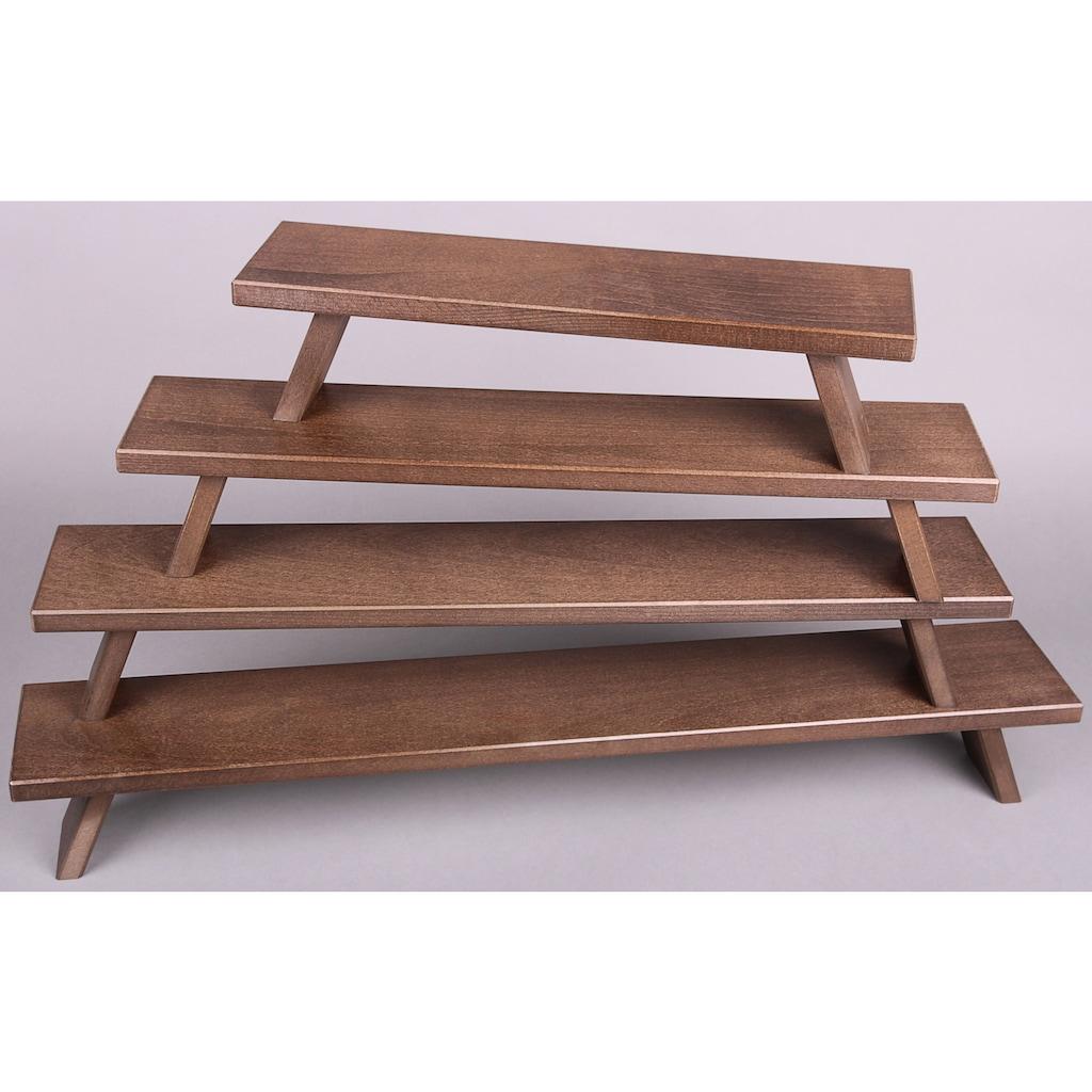 Weigla Schwibbogen-Fensterbank, aus FSC®-zertifiziertem Holz, buche-rustikal, Höhe ca. 11 cm