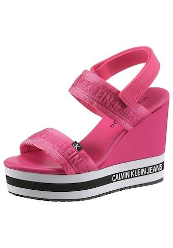 Calvin Klein High-Heel-Sandalette »SADIE«, mit mehrfarbiger Laufsohle kaufen