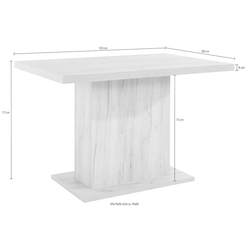 Home affaire Säulen-Esstisch »Cross«, Breite 120 cm