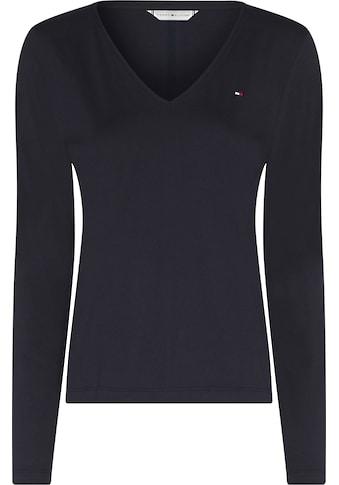 Tommy Hilfiger V-Shirt »REGULAR CLASSIC V-NK TOP LS«, mit Tommy Hilfger Logo-Flag auf... kaufen