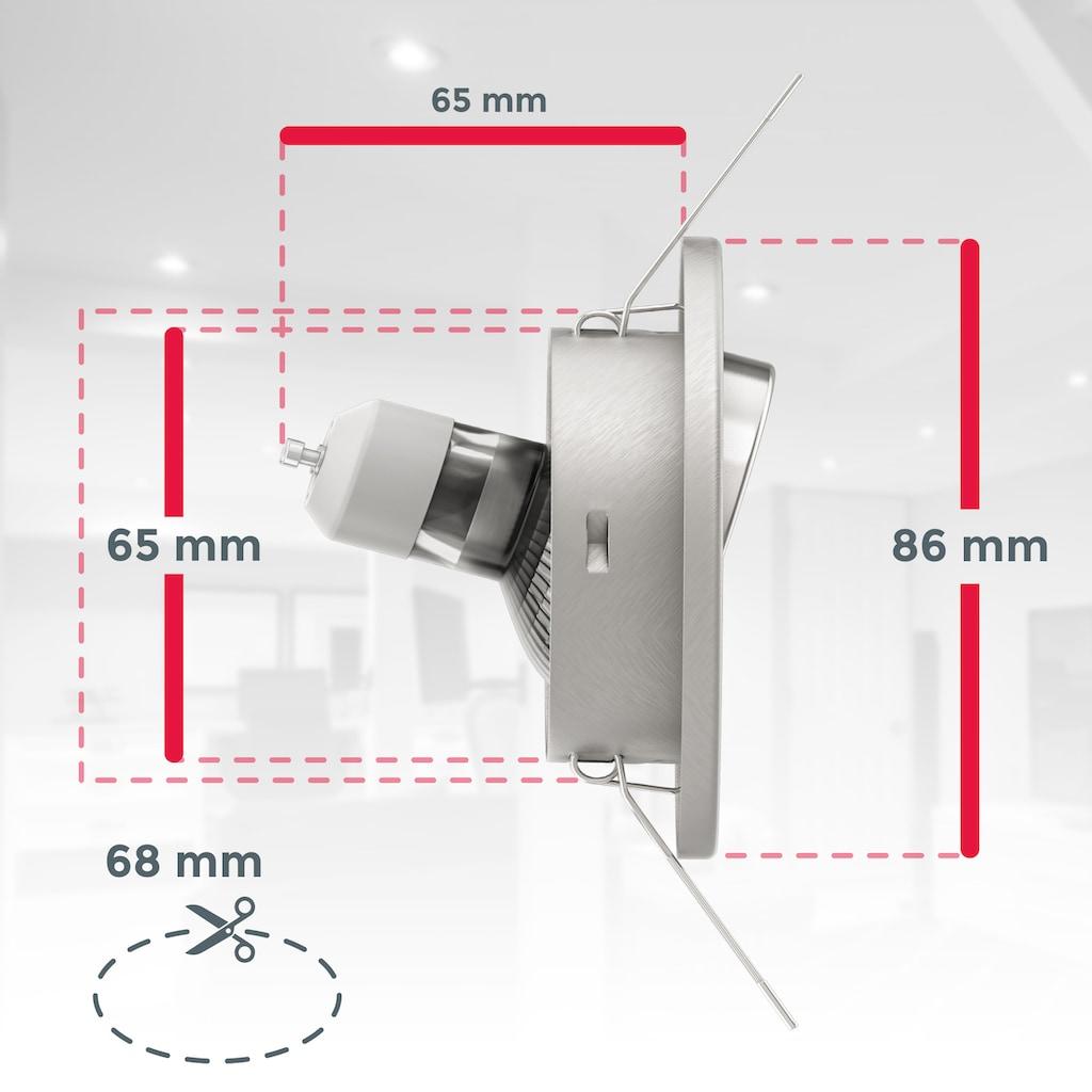 B.K.Licht LED Einbaustrahler, GU10, 10 St., Warmweiß, LED Einbauleuchten schwenkbar weiß inkl. 3W 250lm GU10 Decken-Spot Einbauspots