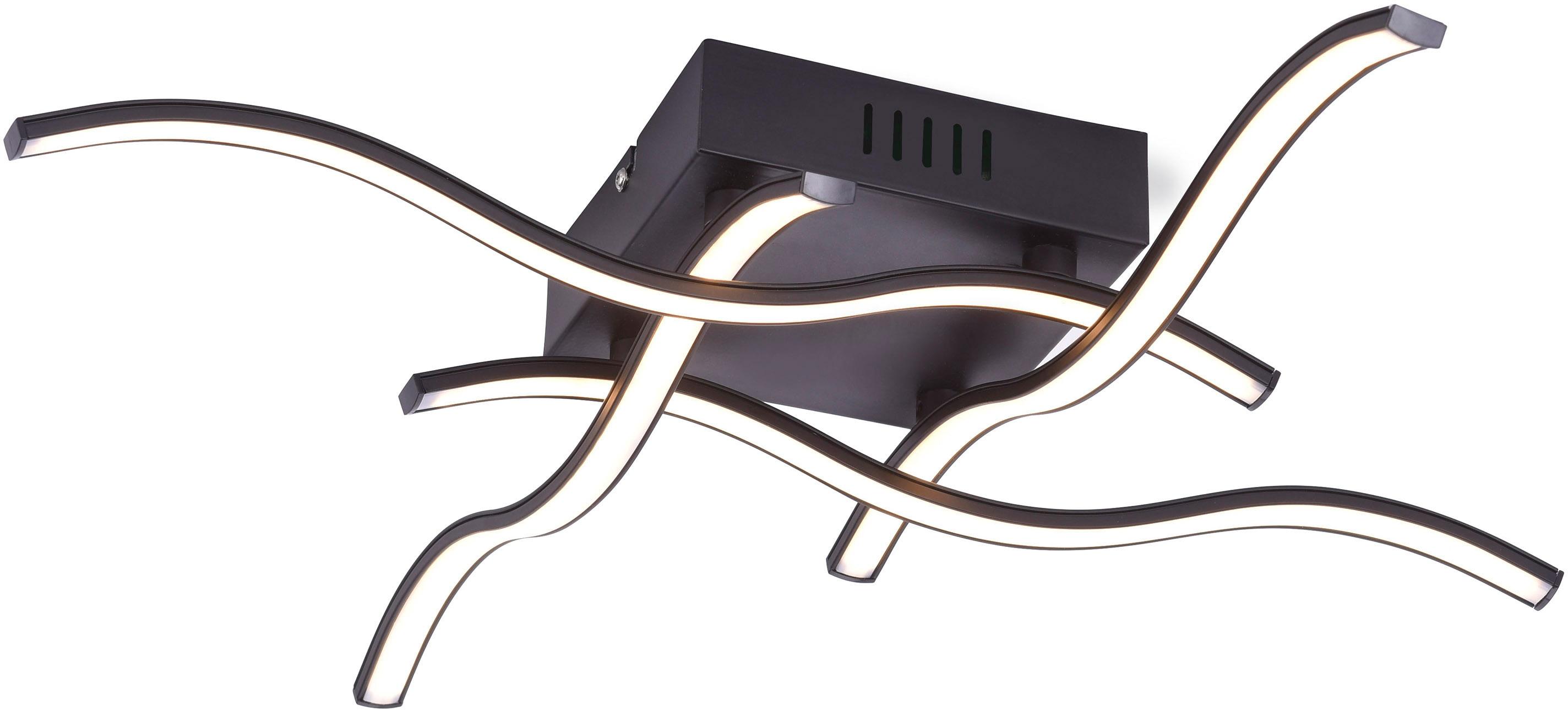 Leuchten Direkt LED Deckenleuchte WAVE, LED-Board, 1 St., Warmweiß, LED Deckenlampe
