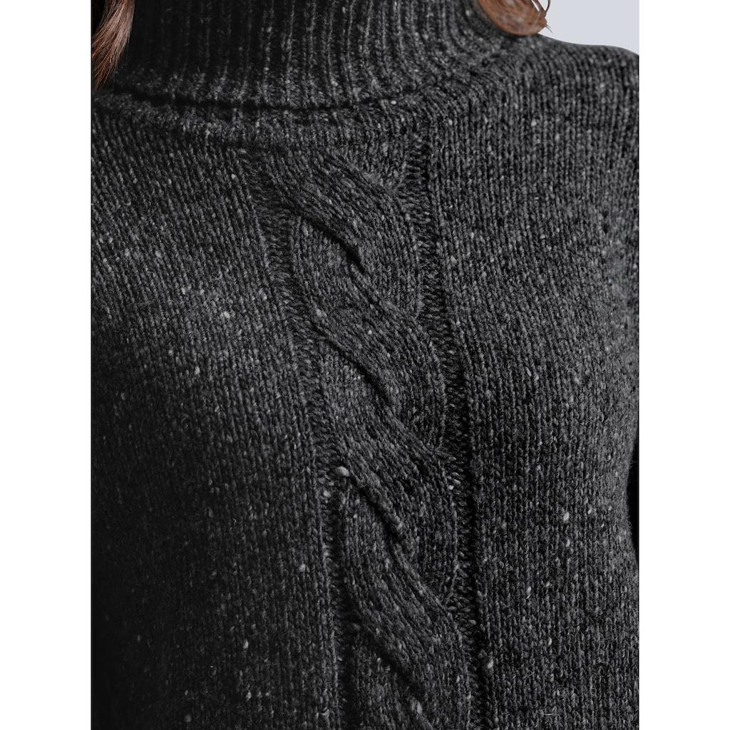 Alba Moda Rollkragenpullover, mit Zopf-Muster