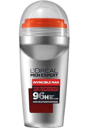 "L'ORÉAL PARIS MEN EXPERT Deo - Roller ""Invincible Man Anti - Transpirant mit 96H Non - Stop Trockenschutz"" kaufen"
