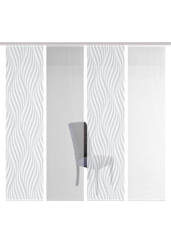 Vision S Schiebegardine »4ER SET WAVE«, HxB: 260x60, Schiebevorhang 4er Set Digitaldruck kaufen