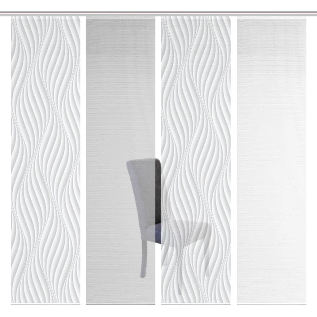 Vision S Schiebegardine »4ER SET WAVE«, HxB: 260x60, Schiebevorhang 4er Set Digitaldruck