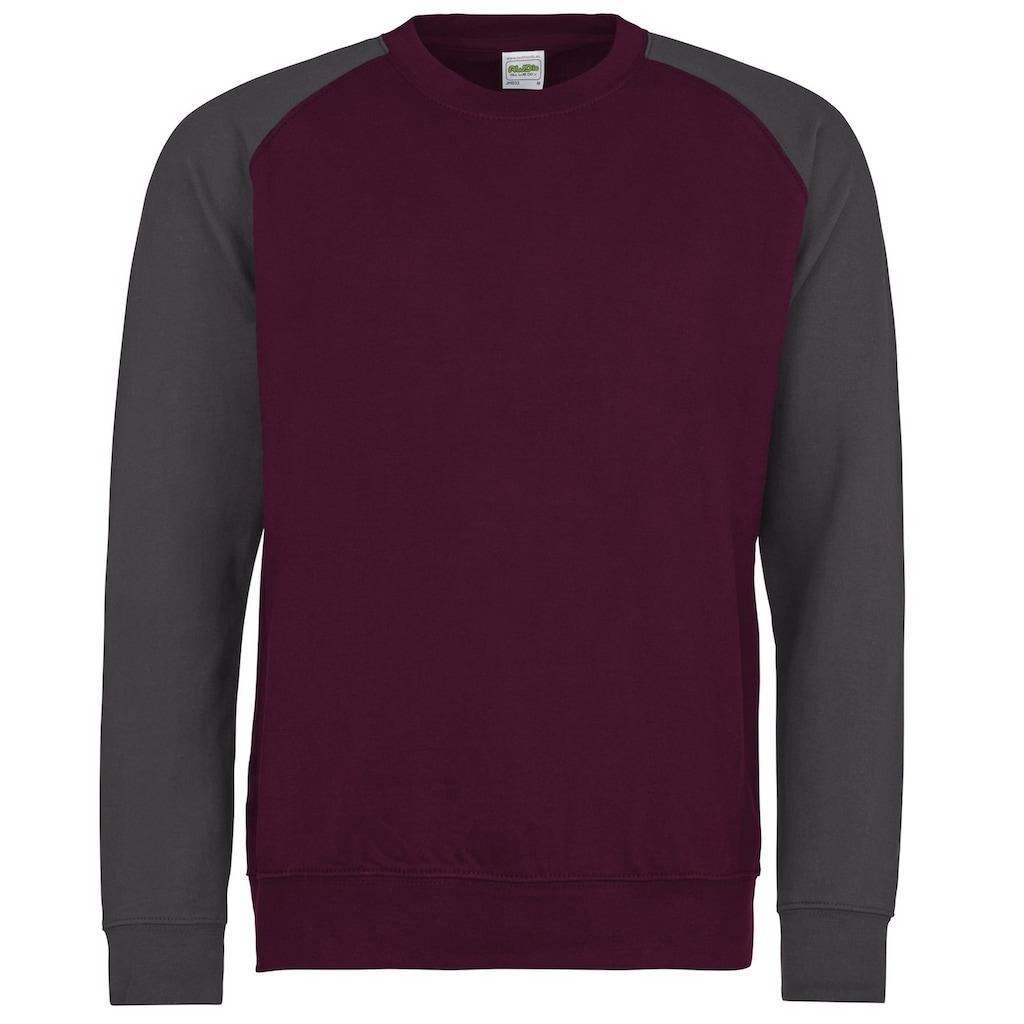 AWDIS Nickijacke »Herren Baseball Sweatshirt, zweifarbig«
