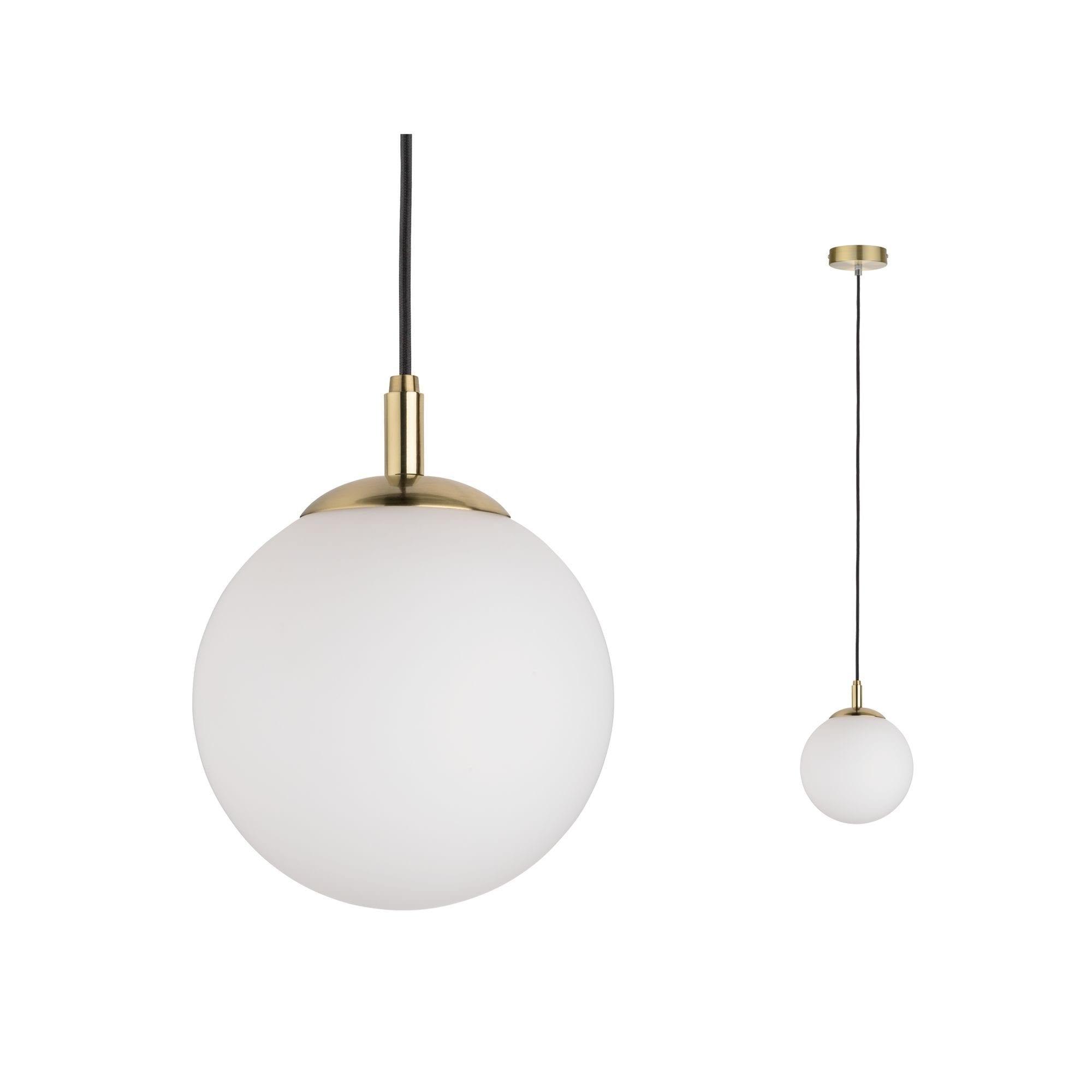 Paulmann LED Pendelleuchte Menja Satinglas/Messing gebürstet max. 20W E27, E27, 1 St.