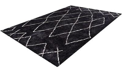 andas Hochflor-Teppich »Bella«, rechteckig, 27 mm Höhe, Retro, Wohnzimmer kaufen