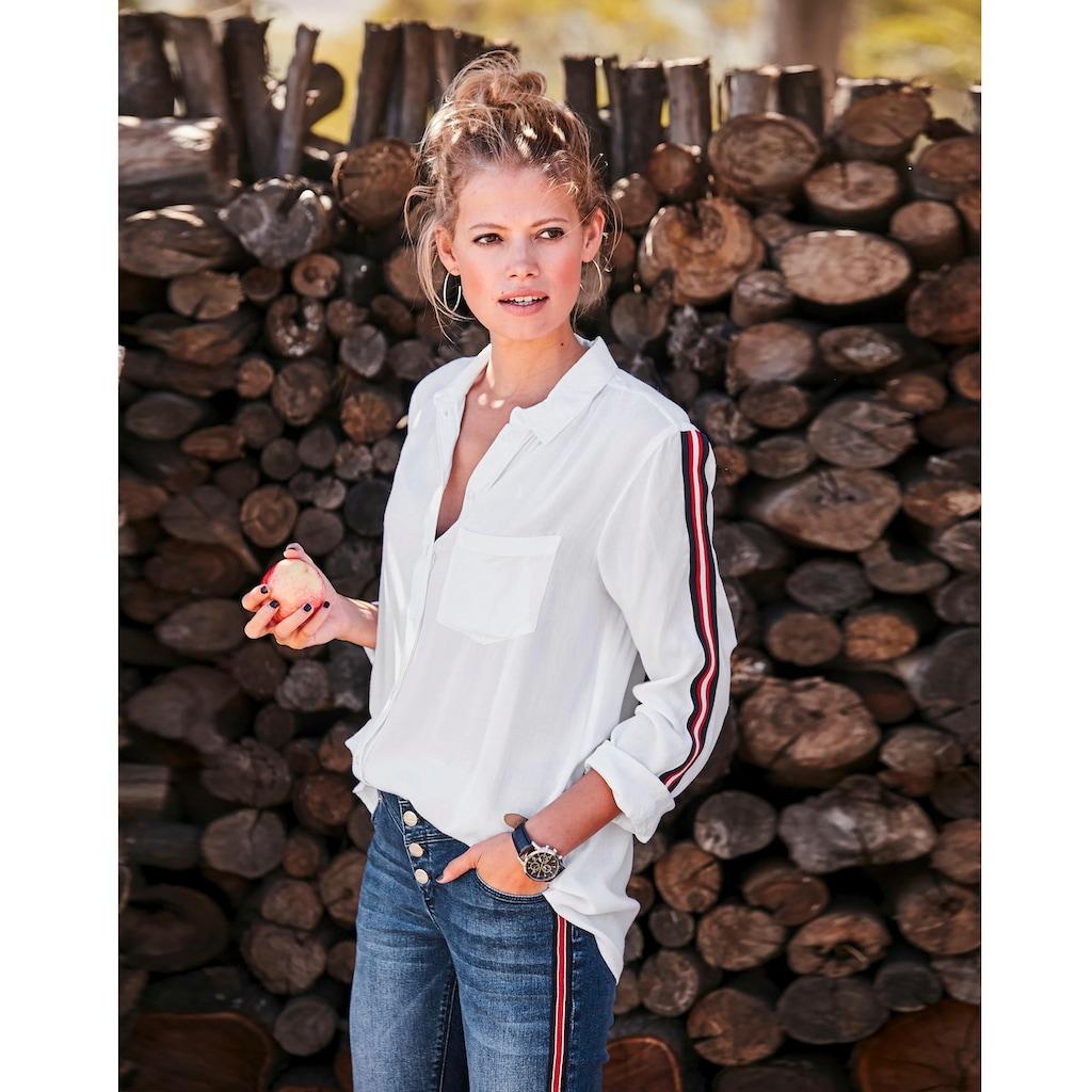 Aniston CASUAL Hemdbluse, mit Galonstreifen