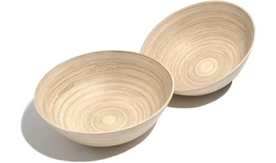 """Franz Müller Flechtwaren Schale """"Bamboo"""", Bambus, (Set 2 - tlg.) kaufen"""