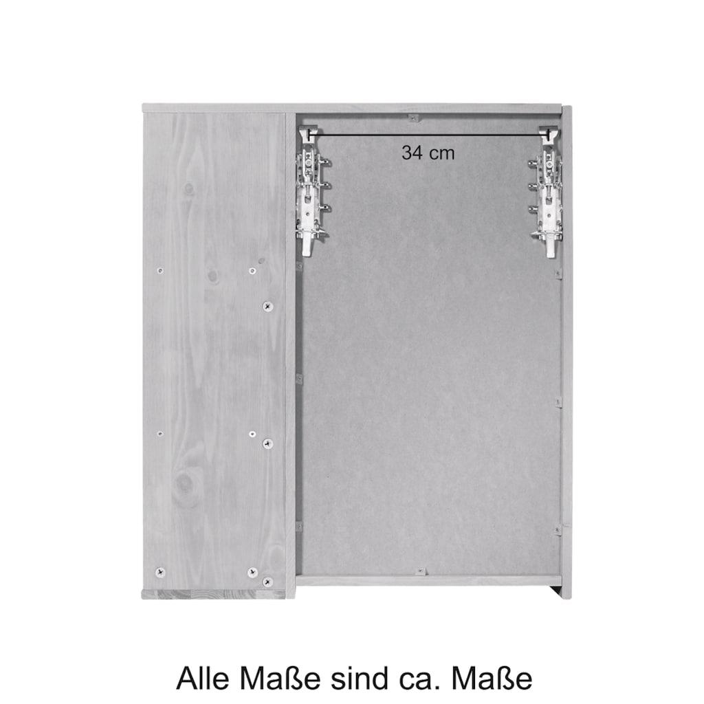 welltime Spiegelschrank »Cadiz«, Breite 60 cm, mit echtholz Eiche modern gekälkt