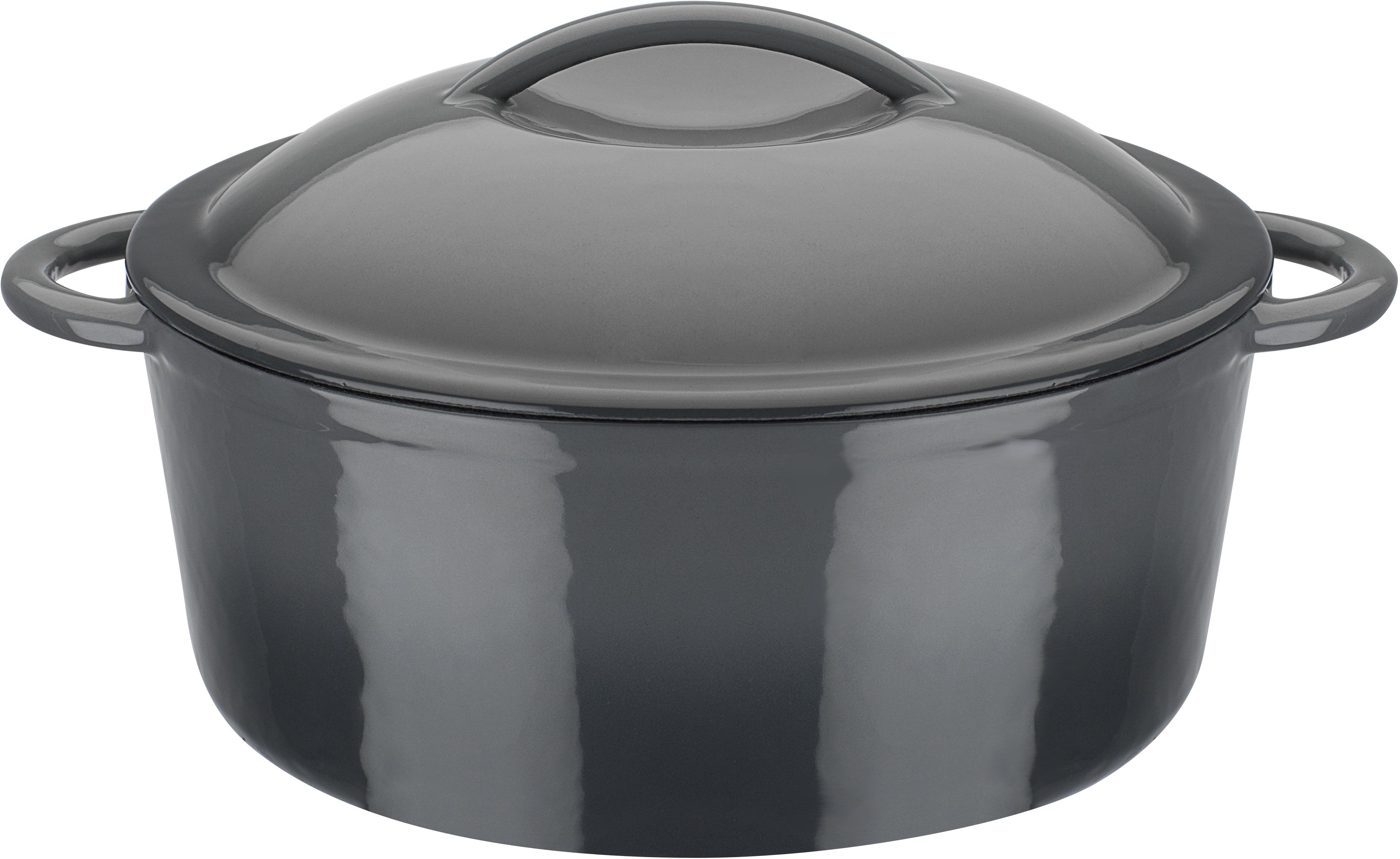 GSW Kochtopf grey, Gusseisen, (1 tlg.), Induktion grau Gemüsetöpfe Töpfe Haushaltswaren
