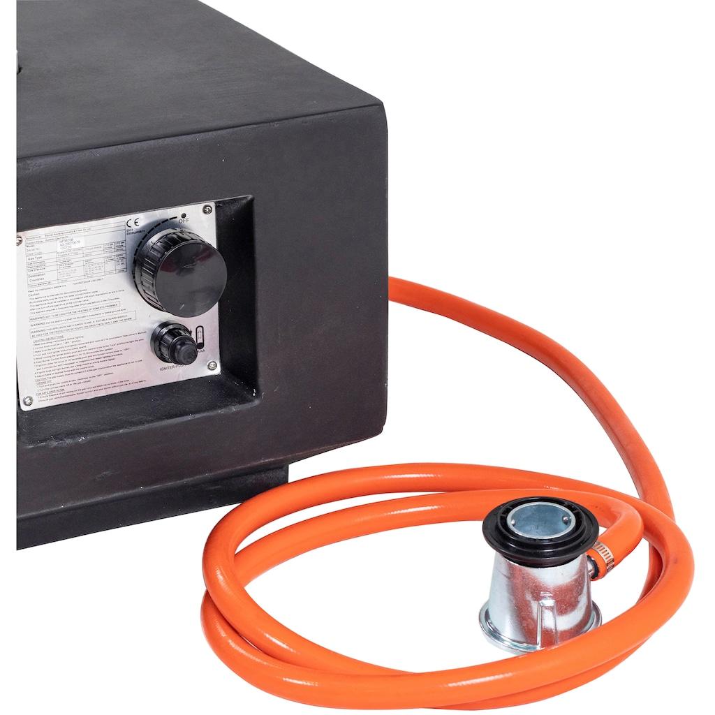 Homexperts Feuertisch »Burnie«, mit Gasanschluss und Ablage